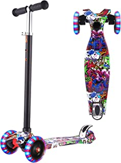 WeSkate Scooters for Kids, Lights Up Scooter for Girls Boys, Adjustable Height, Scooters for Children Ages 3-12