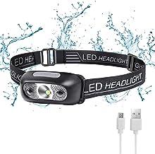 Flintronic LED Hoofd Torch, USB Koplamp Oplaadbare IPX6 Waterdichte Koplamp Zaklamp, Ultra-Light Super Heldere 160 Lumen L...