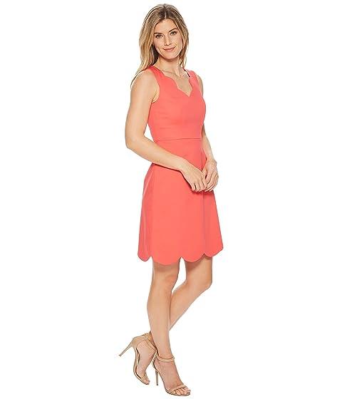 Line Adrianna Nylon festoneado Elsa Papell Algodón A Pink Strawberry Twqn7HSYw