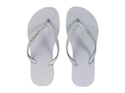 Havaianas Kids Slim Shiny Sandals (Little Kid/Big Kid) (Steel Grey) Girl