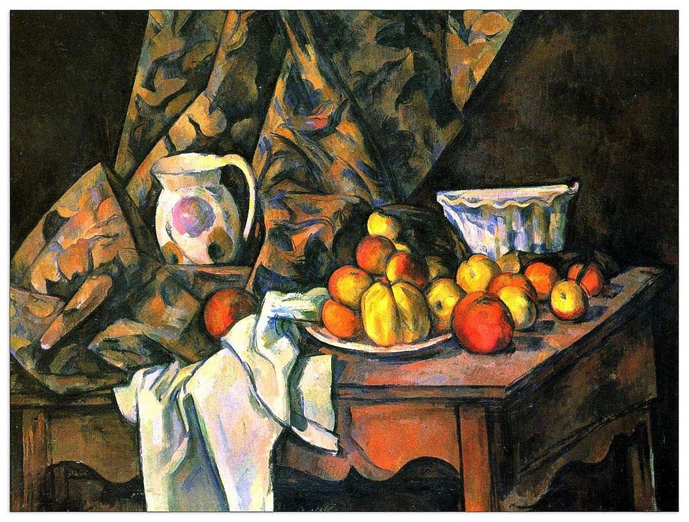 ArtPlaza TW92170 Cezanne Paul - Still Life with Apples and Peaches Decorative Panel 35.5x27.5 Inch Multicolored