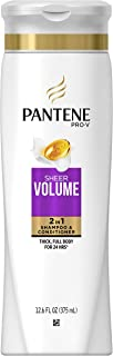 Pantene Pro-V Fine Hair Solutions 2 in 1 Flat to Volume Shampoo & Conditioner by Pantene for Unisex - 12.6 oz Shampoo & Conditioner, 378 ml