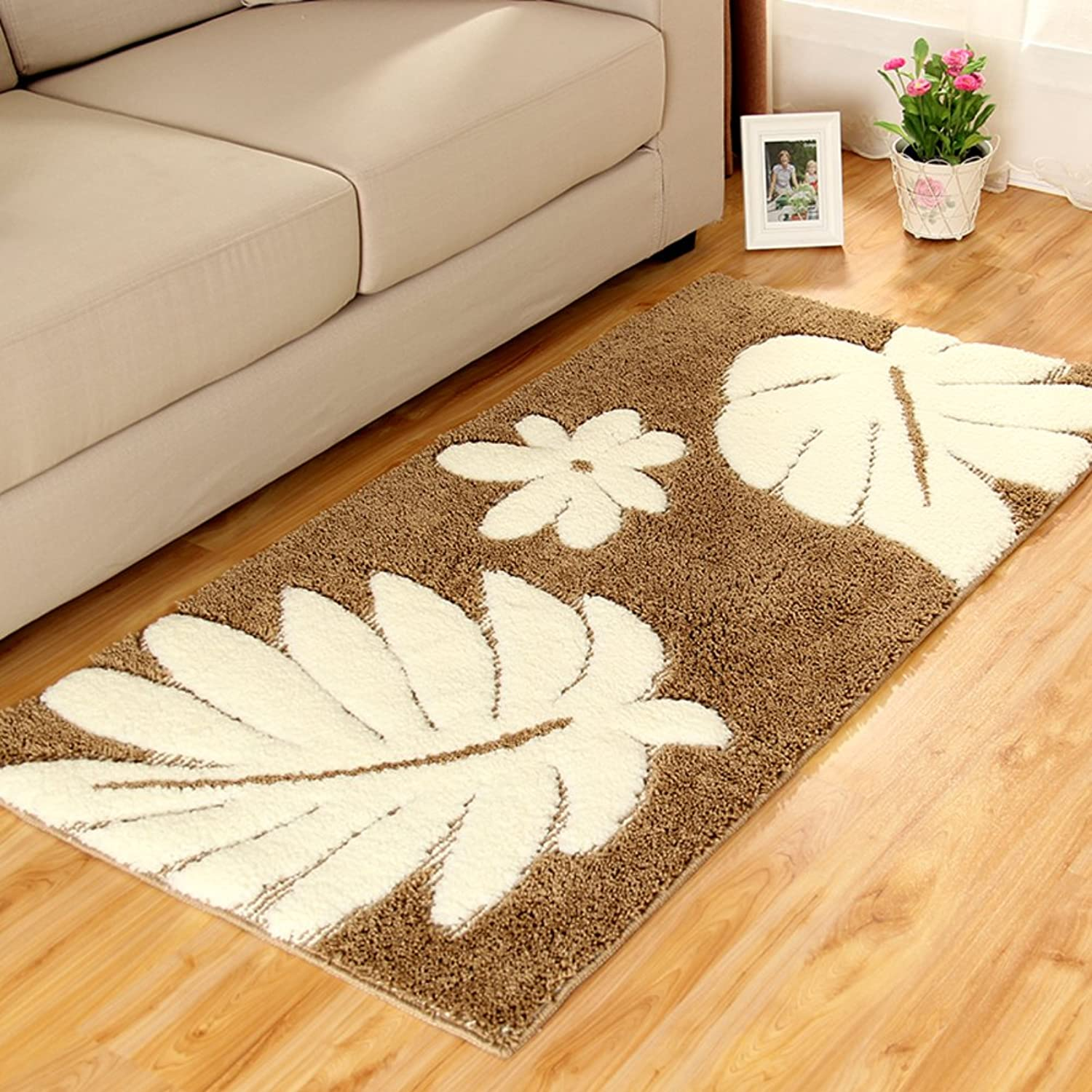 Rug Footcloth Floor Door Ground mat Carpet Tiles for Side or Tea Table Strong Water Dirt Absorption pad-B 28  43  0.6inch(70  110  1.5cm)