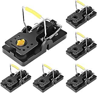 comprar comparacion ASPECTEK Trampa para Ratones, Trampas a Presión Reutilizables de Fácil Instalación, Paquete de 6, Interior, Plástico, Negro