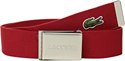 Textile Signature Croc Logo Belt