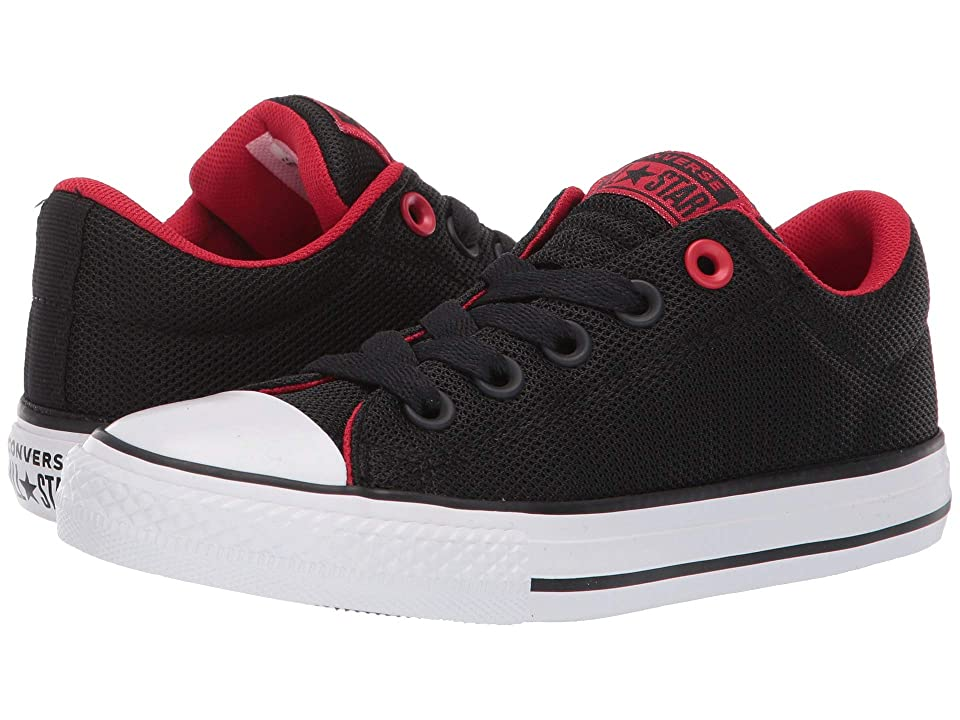Converse Kids Chuck Taylor All Star Street Uniform Slip (Little Kid/Big Kid) (Black/Enamel Red/White) Boys Shoes