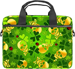 Goldener Totenkopf-Laptoptasche für 34 - 36,8 cm 13,3 - 14,5 Zoll Business Aktentasche Schultertasche Messenger Bag Computer Tablet Hülle für Herren