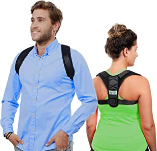 Posture Corrector - Comfortable Back Straightener Brace for Men and Women - Upper Back Support Providing Pain Relief for Neck and Shoulders - Stops Slouching - Adjustable - Black - FDA Approved