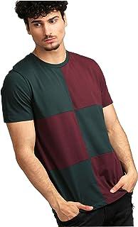 AELOMART Men's Regular Fit T-Shirt (Amt1272G-P,Green)