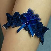 Giarrettiera di pizzo nozze matrimonio sposa biancheria intima regali de nozze blu