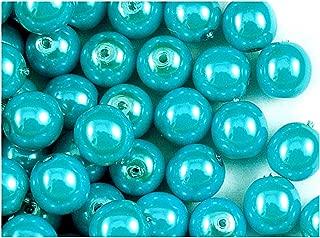 4/mm Rotonde Pearl Beads Estrela Colore Verde Acqua Satinato Confezione di 100 Perline