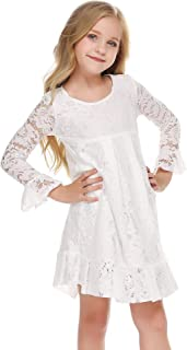 Balasha Flower Girls Lace Dress Country Dresses with Sleeves
