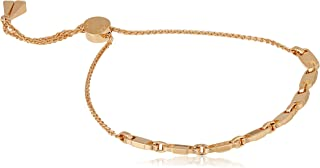 Michael Kors Women Cubic Zirconia Mercer Link 14Ct Rose Gold Plated Slider Bracelet