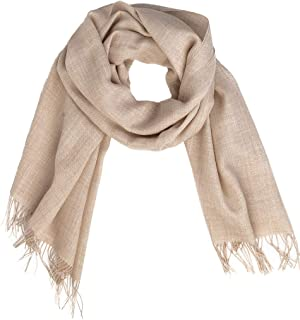 Oversized Scarf & Shawl, 100% Baby Alpaca Wool - Organic & Dye-Free, Hypoallergenic - Unisex | 27.5 x 78.5 inches