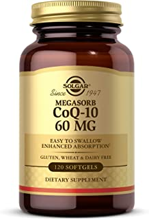 Solgar Megasorb CoQ-10 60 mg, 120 Softgels - Supports Heart & Brain Health - Coenzyme Q10 Supplement - Enhanced Absorption...