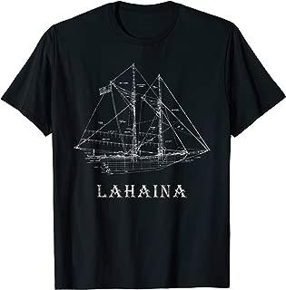 Sailing T-Shirt Vintage Blueprint Lahaina, Maui Sailing T-Shirt