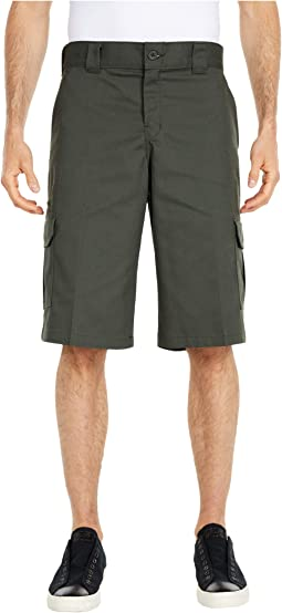 """13"""" Relaxed Fit Mechanical Stretch Cargo Shorts"""