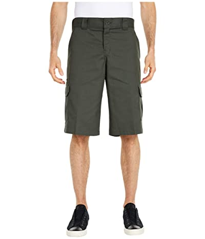 Dickies 13 Relaxed Fit Mechanical Stretch Cargo Shorts (Olive Green) Men