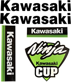LLAP Motorcycle Decals Stickers Keychain Set for Kawasaki Ninja ZX-10R (6 Packs)