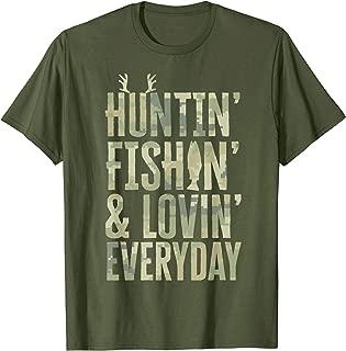 Hunting Fishing Loving Every Day Shirt, Fathers Day Camo T-Shirt