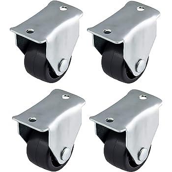 Bulldog Routors Lot de 4 roulettes fixes en plastique Noir 40 mm Quantit/é