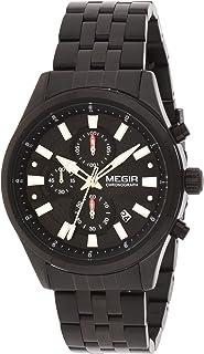 Megir Gents Wrist Watch, MS2154G-BK-1A