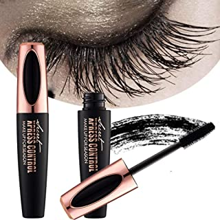 a1b8d87650f ZDU 4D Silk Fiber Eyelash Mascara Extension Makeup Black Cold Waterproof  Kit Eye Lashes