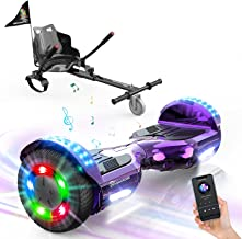 """EVERCROSS Hoverboard, Self Balancing Scooter Hoverboard with Seat Attachment, 6.5"""" Hover Board Scooter with Bluetooth Spea..."""