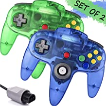 $27 » GALGO Wired N64 Controller, Upgrade Joystick Gamepad Controller for Original Nintendo 64 Console (Sapphire Blue and Jungle Green)