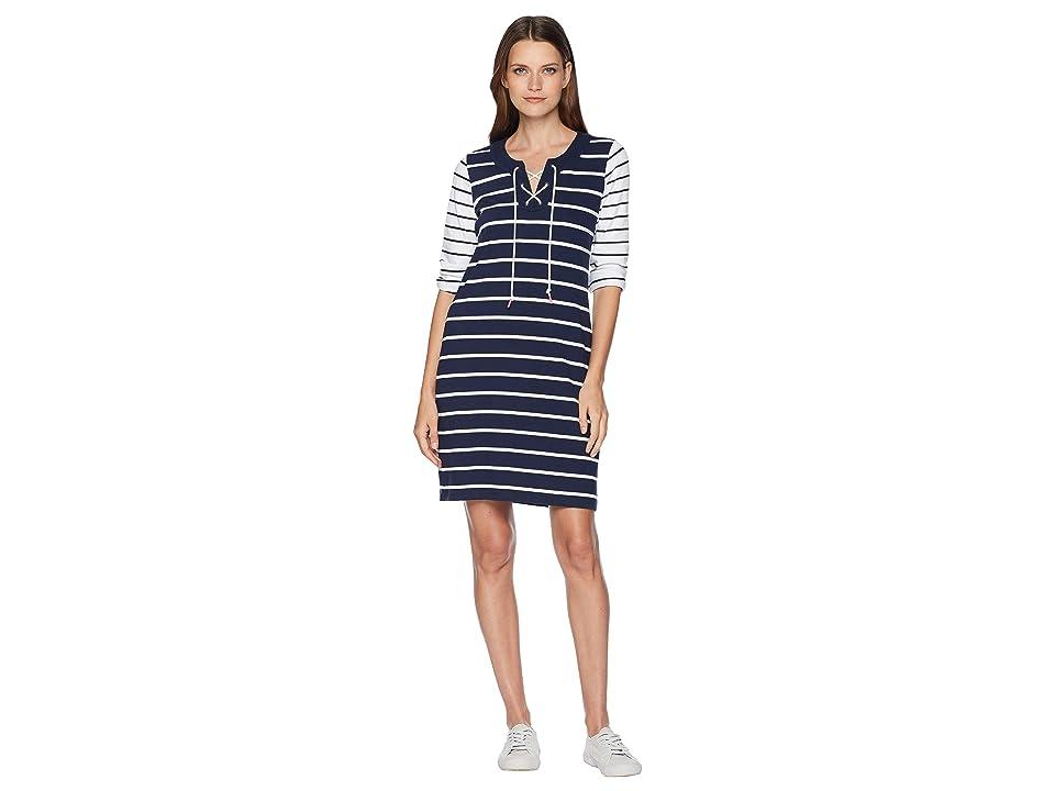 Tommy Bahama Floricita Stripe Shift Dress (Ocean Deep) Women