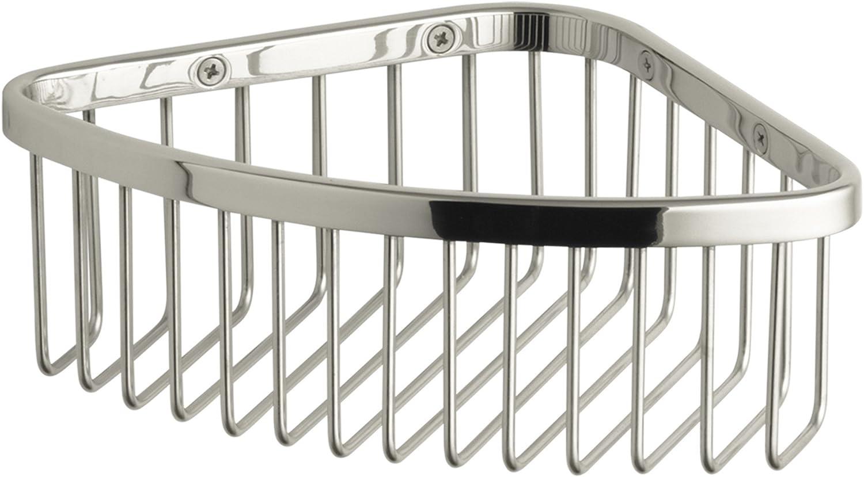 KOHLER K-1896-SN Medium Shower Basket, Vibrant Polished Nickel