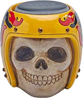 Skull Statue Crafted - Smart Speaker Stand Holder for Echo Dot 3rd Generation Speakers Holder Best Gift Idea for Smart Home