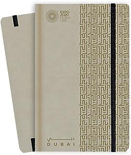 Expo 2020 Dubai A5 Note Book Dubai Heritage Style Sand - 13.5 x 21 x 1.4 cm