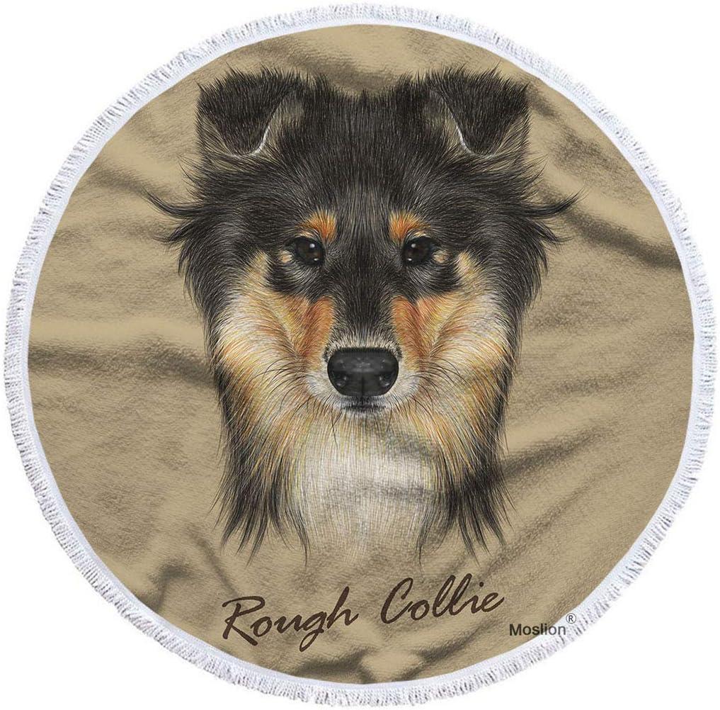 Moslion Dog trust Beach Towel Blanket Cute Mahogany Face Collie New item of Sab
