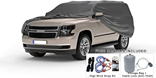 Weatherproof Truck Cover Compatible with 2011-2019 Ford F-150 Raptor Crew Cab~5.5Ft Bed & Camper Shell - 5L Outdoor - Protect Rain, Snow, Hail, Sun - Cable Lock, Bag & Wind Straps