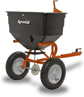 Agri-Fab Inc 45-0512-131 Rustproof  Tow Broadcast Spreader 45-0512-131, 175 lb Capacity, Black And Orange