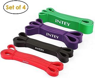 comprar comparacion INTEY Bandas de Resistencia, 4pcs Bandas Elasticas de Fitness, de Látex Natural, para Entrenamiento de Fuerza, Yoga, Pilat...