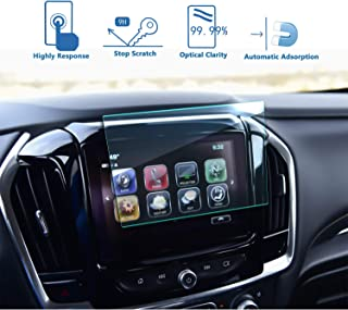 LFOTPP 2018 2019 Chevrolet Traverse 8-Inch MyLink Car Navigation Screen Protector, Tempered Glass 9H Hardness Car Infotainment Display Center Touch Protective Film Scratch-Resistant