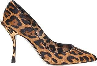 DOLCE E GABBANA Luxury Fashion Womens CD1018AZ417HAALM Brown Pumps | Fall Winter 19