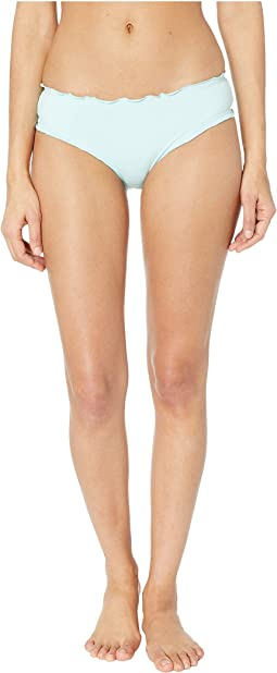 Solid Ruffled Hipster Bikini Bottoms
