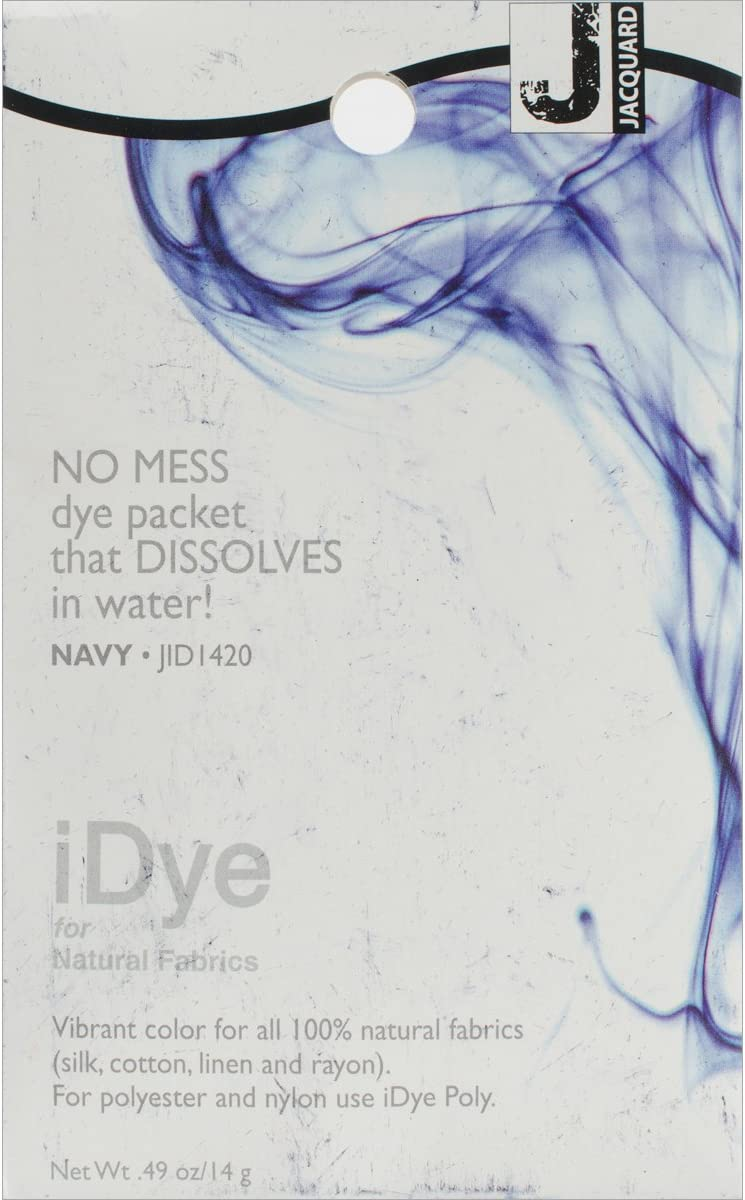 Jacquard Department store 100% Natural Navy iDye Special price for a limited time Dye Fabric