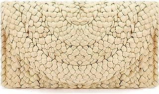 Straw Clutch Purse, JOSEKO Women Straw Envelope Bag Wallet Summer Beach Handbag Beach Clutch Purse