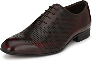 HITZ Red Leather Shoes for Men