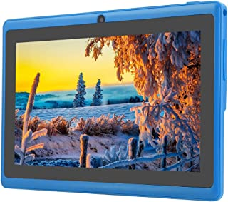 Table 7 inch Android, HD Portable Mini Compact Tablet PC with HD IPS Touch Screen 8G WiFi Bluetooth Quad-Core Dual Camera Tablet PC for Travel Study Office(Blue)
