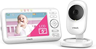"VTech LM808-1W Video Baby Monitor with 1000ft Long Range, Auto Night Vision, 5"" Screen, 2-Way Audio Talk, Temperature Sens..."