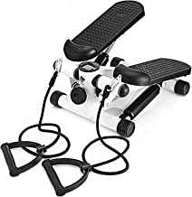 AUSELECT Exercise Stepper, Mini Aerobic Stepper Machine with Display, Low Noise Fitness Stepper Including Resistance Bands...