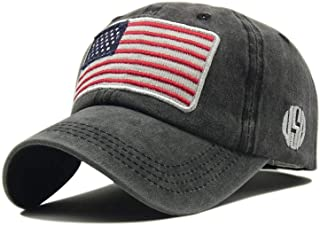 LOKIDVE USA American Flag Baseball Cap Embroidered Polo Style Military Army Hat