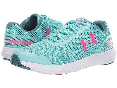 Under Armour Kids UA GGS Surge Running (Big Kid) (Mermaid/White/Penta Pink) Girls Shoes