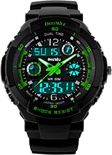 BesWLZ Unisex Sport Watch Multifunction Digital Waterproof Electronic Quartz Watches for Boy Girls Kids Gift