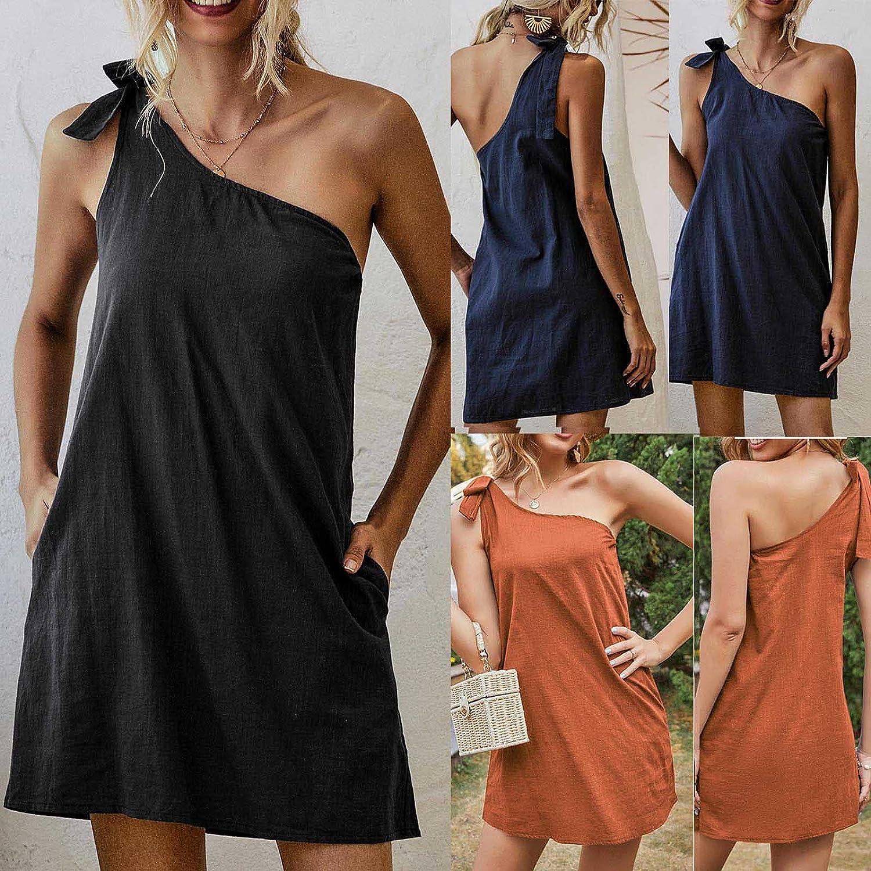 Sun Dresses Women Summer Women Summer Casual Sleeveless Bandage Solid Dresses Slim Dress Casual Sexy Boho